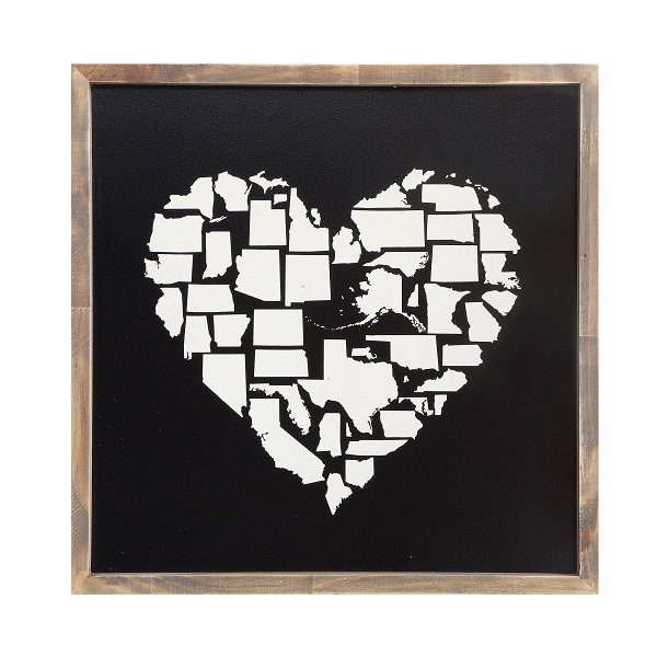 Heart Wall Decor us states heart wall decor - nadeau cincinnati
