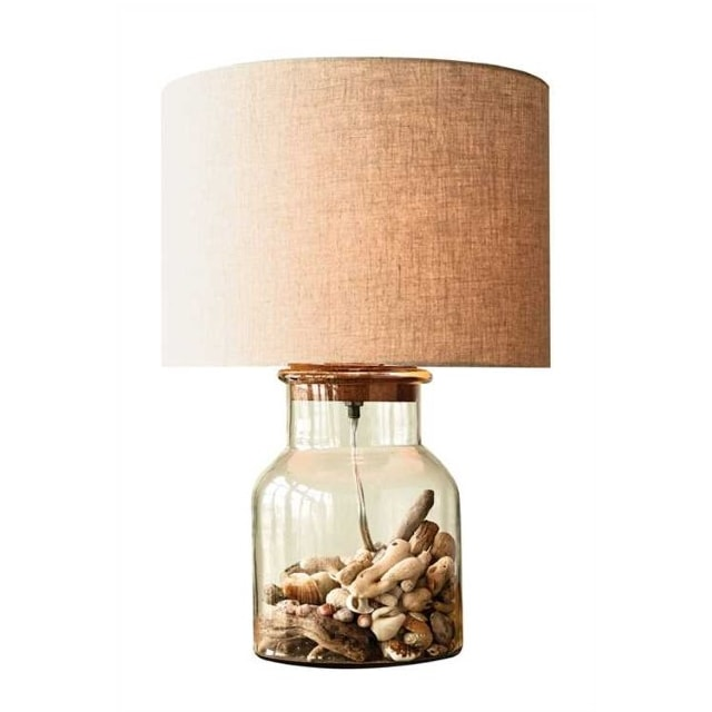 Glass fillable table lamp nadeau portland glass fillable table lamp aloadofball Image collections