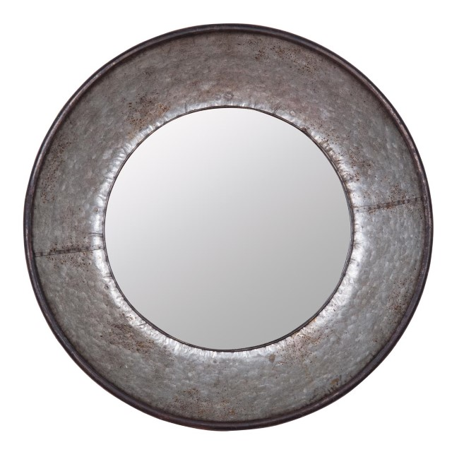 Galvanized Round Mirror - Nadeau Dallas