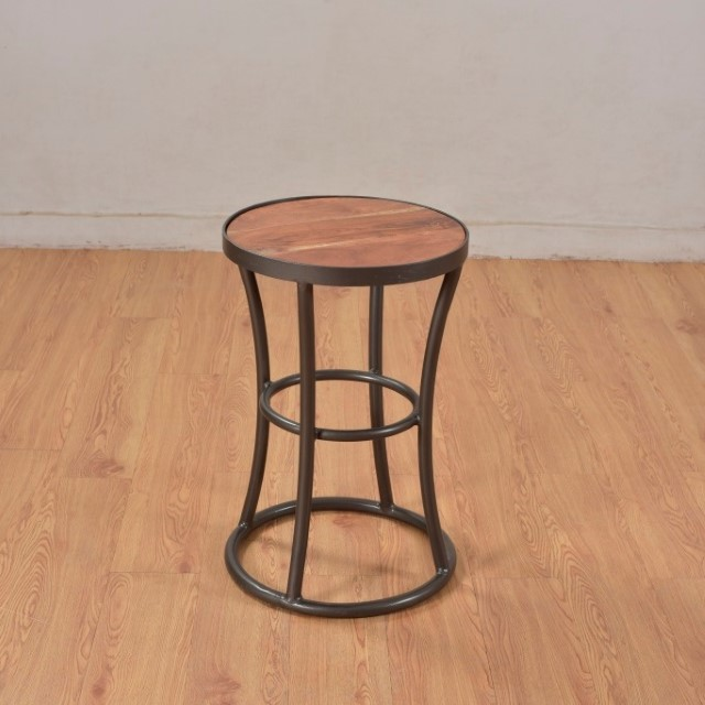 Iron and wood side table nadeau marietta for Iron and wood side table