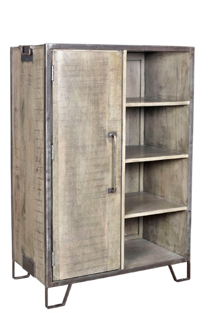 Iron And Wood Cabinet Nadeau Dallas