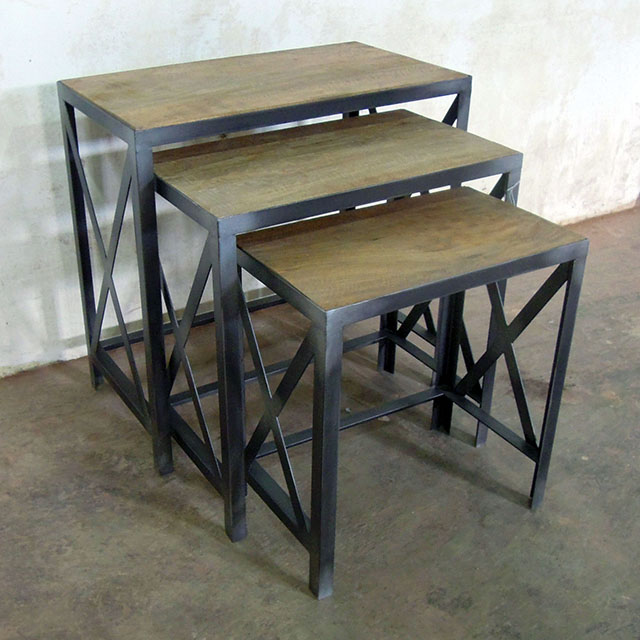 Superb Industrial Nesting Table