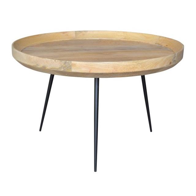 Iron Leg Round Coffee Table