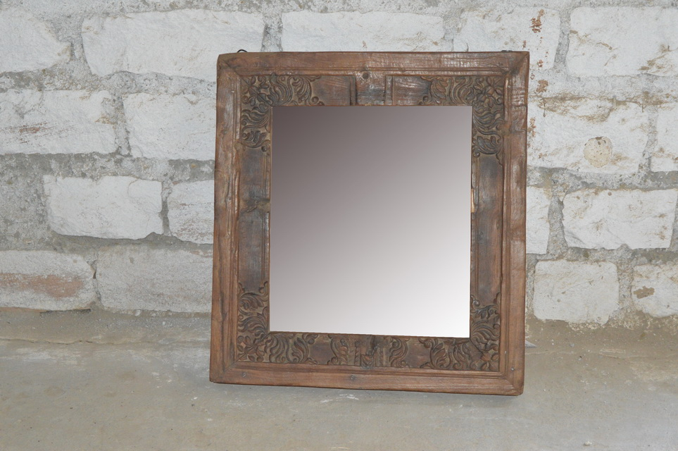 mirror with carved wood frame - Wood Frame Mirror