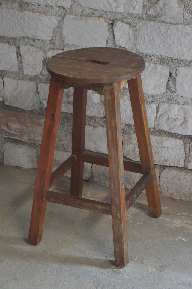 Reclaimed Wood Barstool