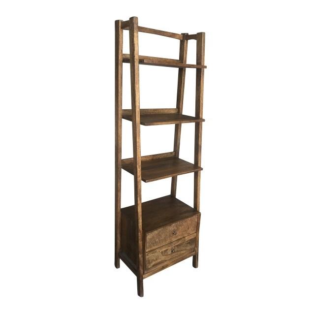Mid Century Tiered Bookshelf
