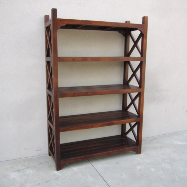 nadeau product open custom oaks sherman bookshelf