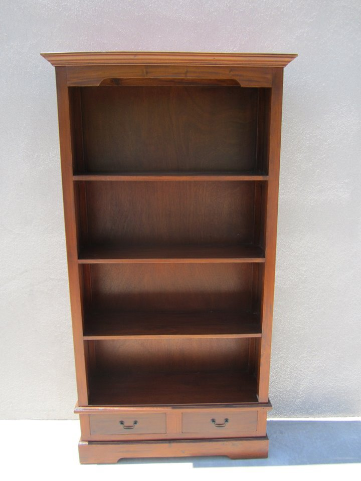 Mahogany Bookcase With Drawers Nadeau Alexandria