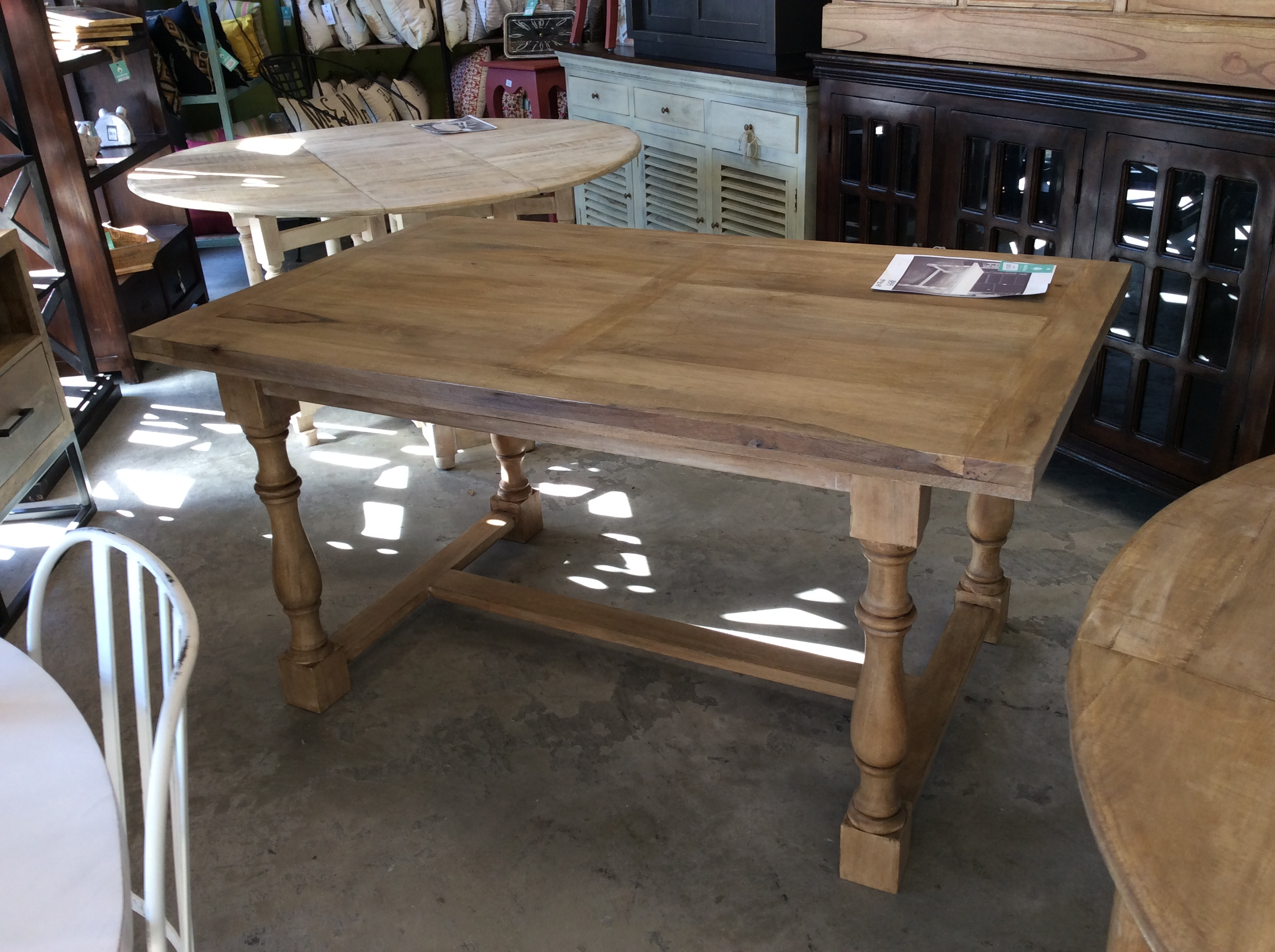 baluster dining table nadeau alexandria