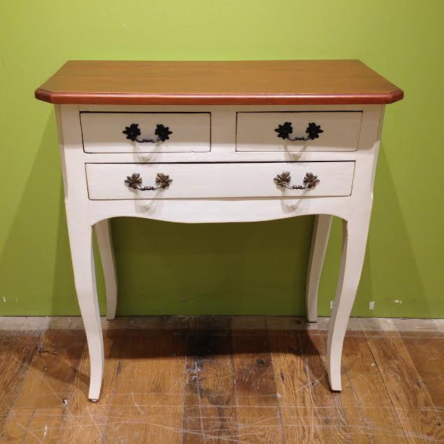 Three Drawer Side Table