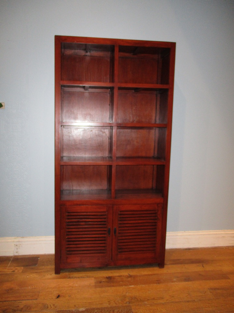 Bookcase With Two Shutter Doors on Nadeau Furniture Console