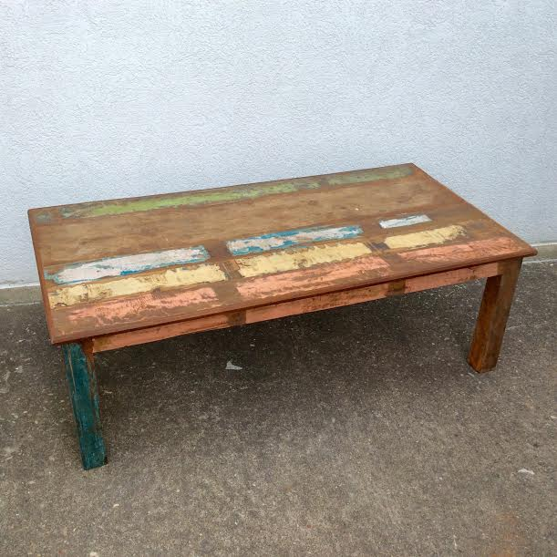 Reclaimed Wood Coffee Table On Image of Exterior