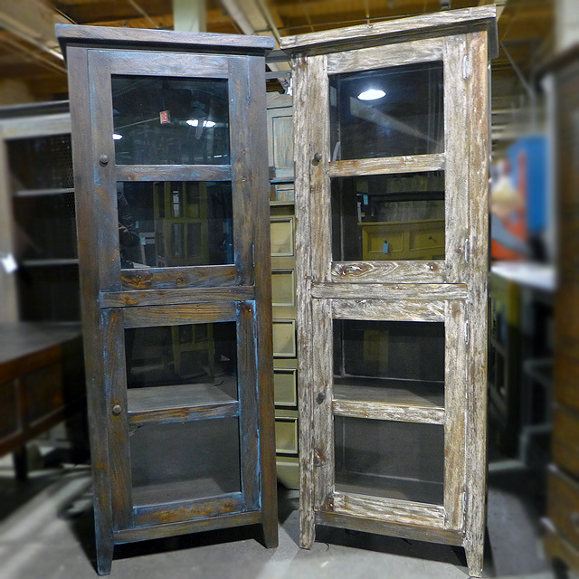 Cottage Single Glass Door Cabinet Nadeau Alexandria