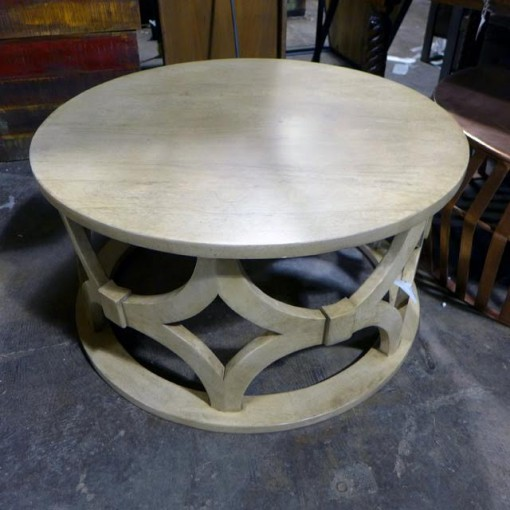 Carved Round Coffee Table Nadeau Atlanta