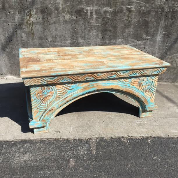 Carved Coffee Table Nadeau Atlanta