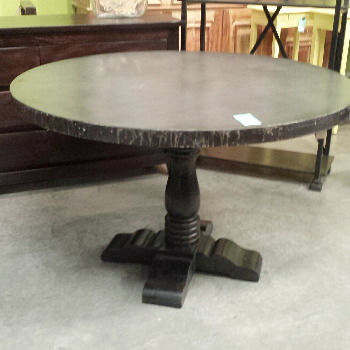iron and wood dining table nadeau baton rouge. Black Bedroom Furniture Sets. Home Design Ideas