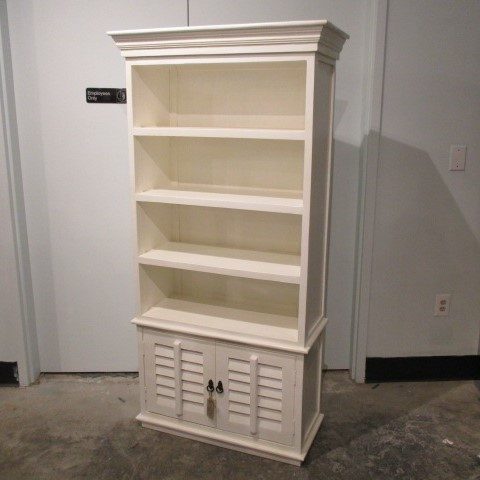 Bookcase With Shutter Doors Nadeau Charleston
