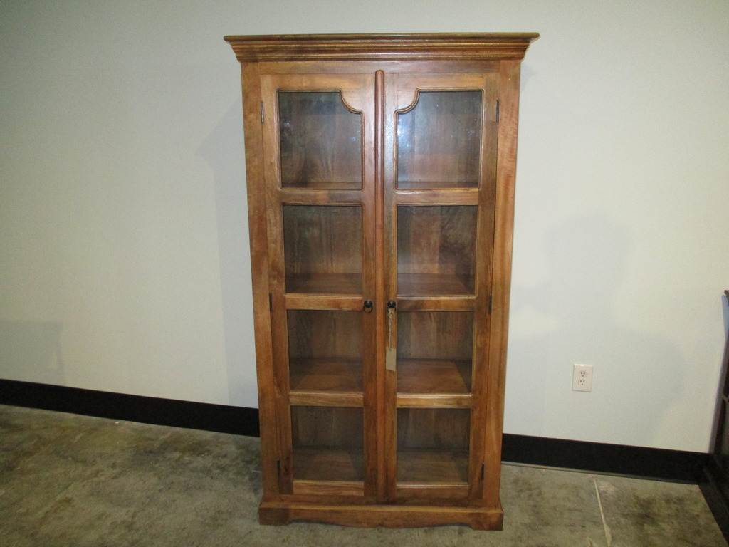 Tall Display Cabinet 4 on Nadeau Furniture Console