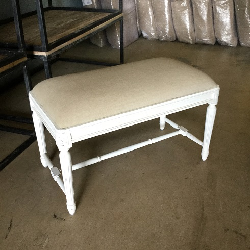 Small Upholstered Bench With Fluted Legs Nadeau Charleston