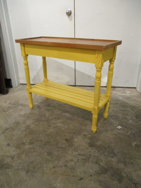 Console Table With Slatted Shelf