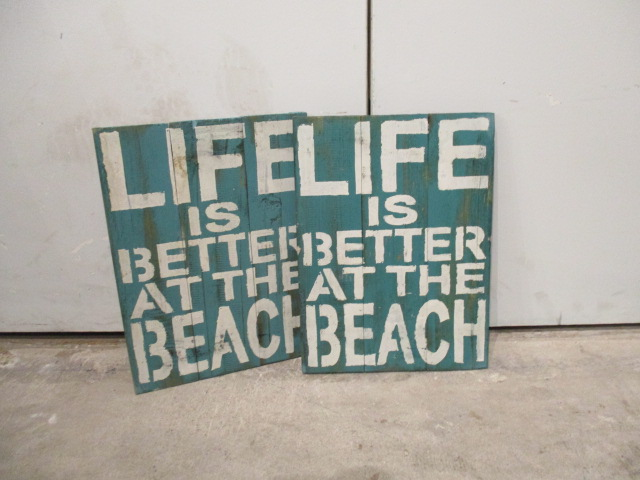 U201cLife Is Better At The Beachu201d Wall Decor
