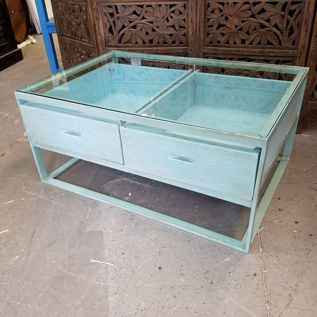 Glass Top Coffee Table With Drawers: Glass Top Coffee Table With Drawers