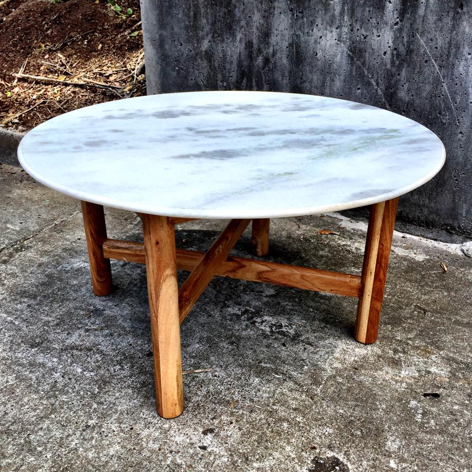 Round Marble Coffee Table Nadeau Charlotte