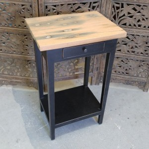 Side Table Reclaimed Railroad Top