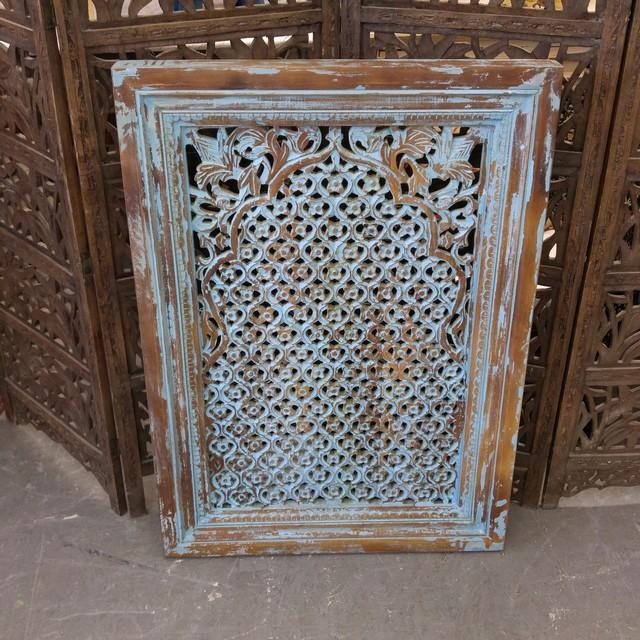 Wall Jali Design : Crved jali wall d?cor nadeau charlotte