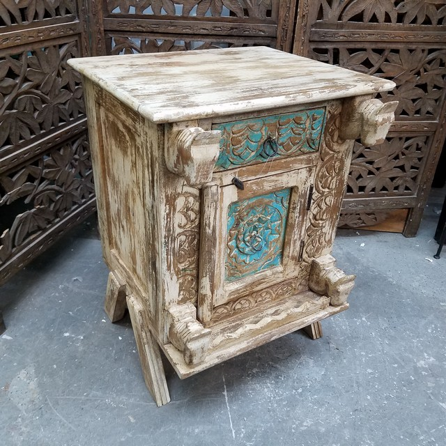 Carved bedside table nadeau charlotte carved bedside table watchthetrailerfo