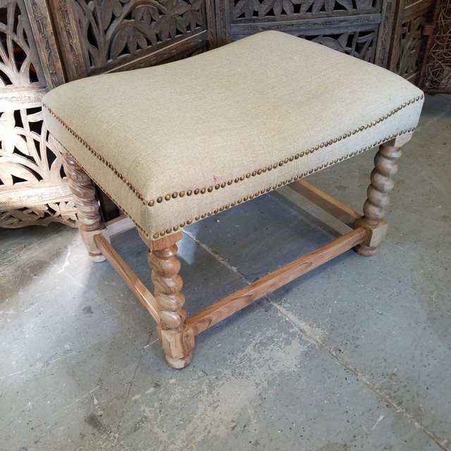 Small Bench With Upholstered Seat Nadeau Charlotte