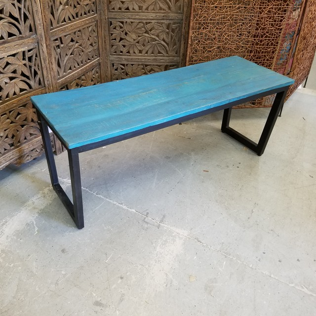 Iron And Wood Bench Nadeau Charlotte