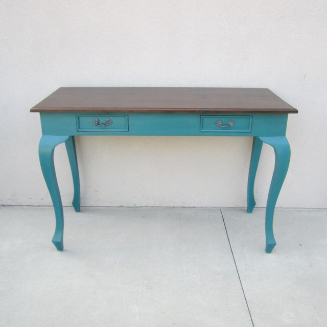 Good Two Drawer Console With Queen Anne Legs