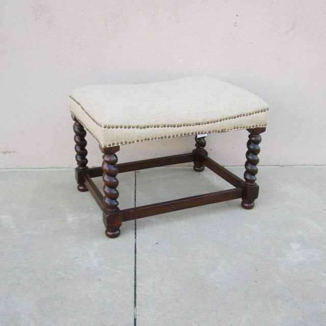 Small Bench With Upholstered Seat Nadeau Columbia