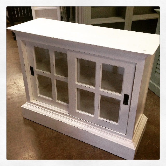 a191 white glass sliding cabinet bookcase a191
