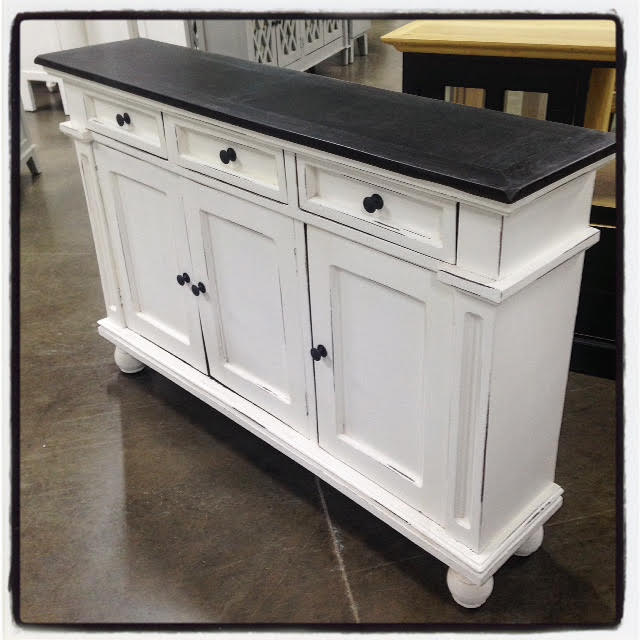 Three Door Narrow Sideboard on nadeau furniture console