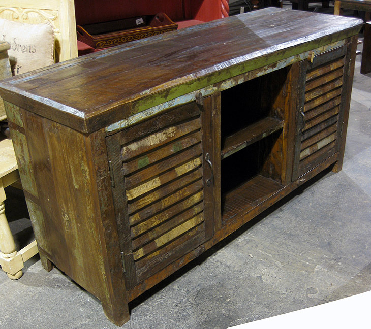 Reclaimed Wood T.V. Stand - Reclaimed Wood T.V. Stand - Nadeau Dallas