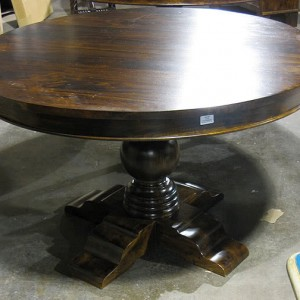 HW1108 48  Round Dining Table Pedestal