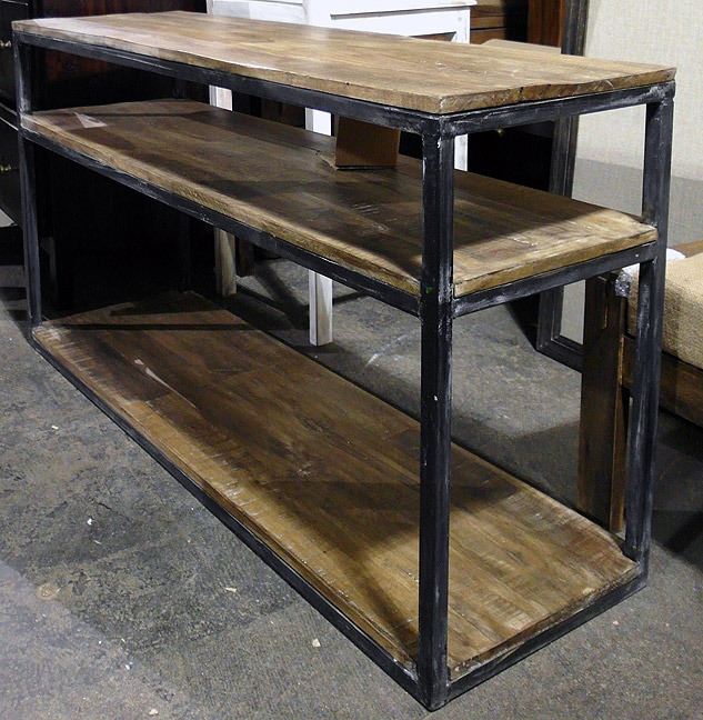 Iron And Wood Console Table on nadeau furniture console