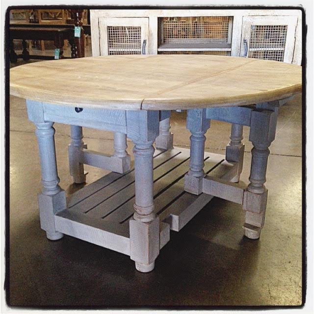 Round Gateleg Table on nadeau furniture console