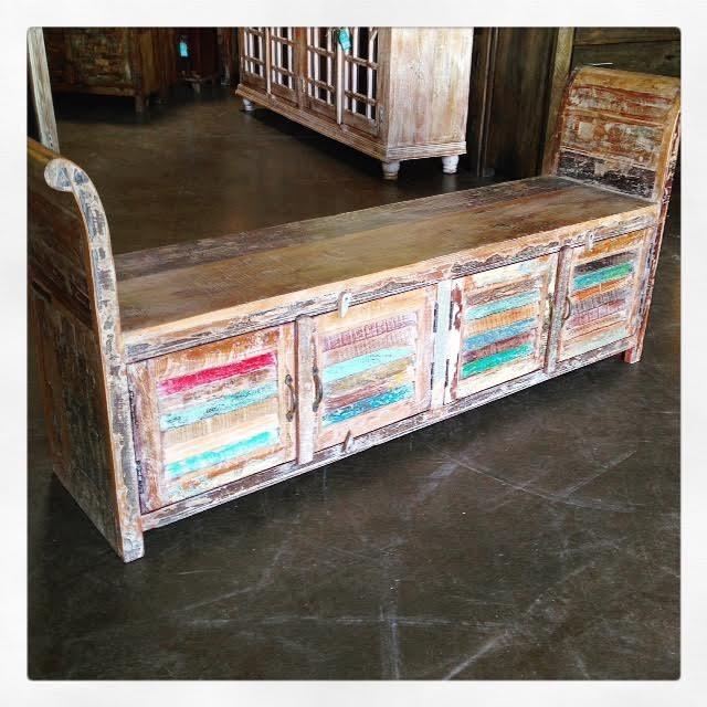 Reclaimed Wood Bench Nadeau Dallas