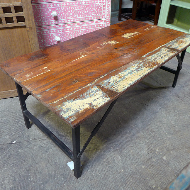 Reclaimed Wood Coffee Table - Reclaimed Wood Coffee Table - Nadeau Dallas