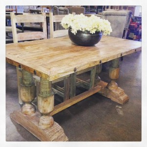 NK354 $639.00 Nailhead Dining Table 4