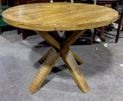 NT052 $568.00 Round Mango Dining Table (2)