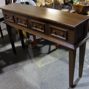 T036 Mahogany 4 Drawer Console #3