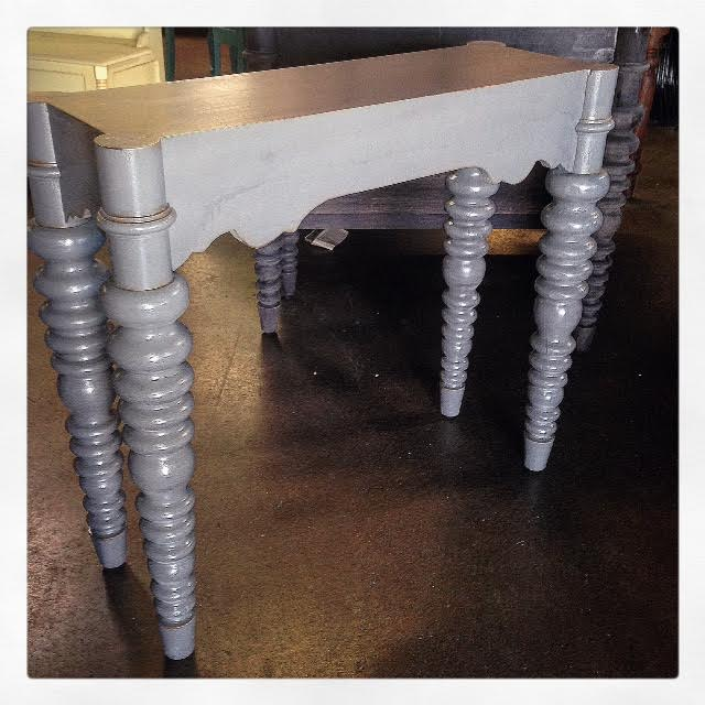 Spindle Leg Console Table