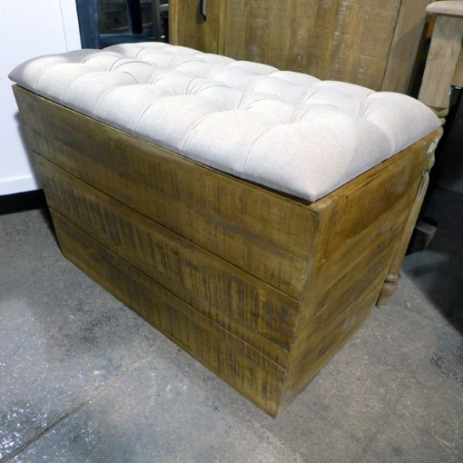 Upholstery Seat with Storage Box