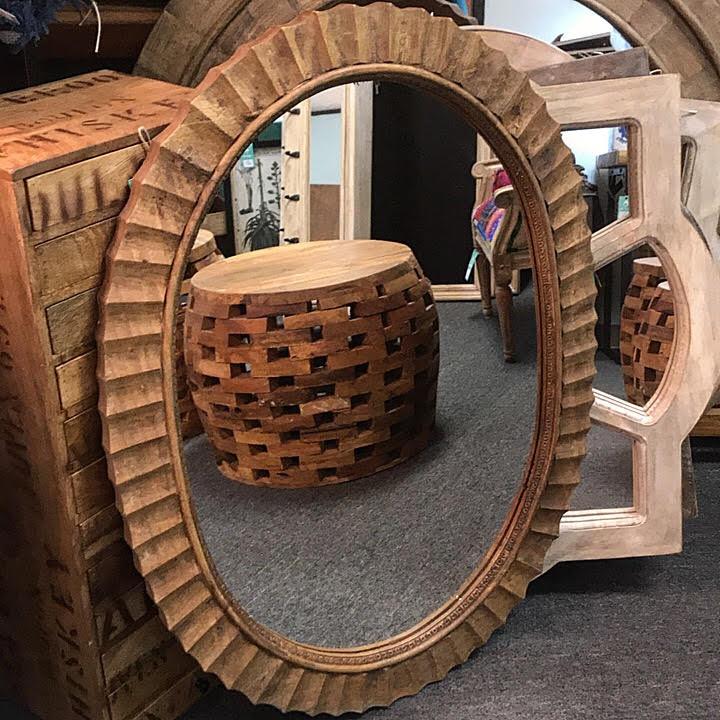 Round Mirror Nadeau Dallas