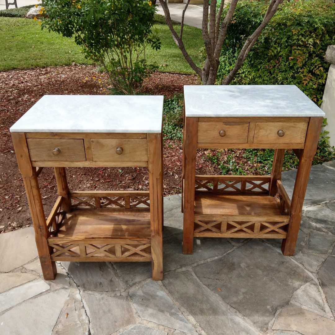 Great Side Table With Marble Top