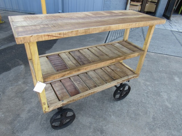 Wheeled Console Table ~ Console table on wheels nadeau houston